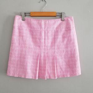 Naf Naf pink tweed style linen blend skirt